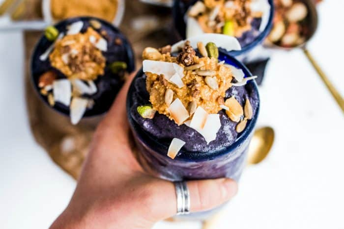 Easy Blueberry Cardamom Vanilla Smoothie