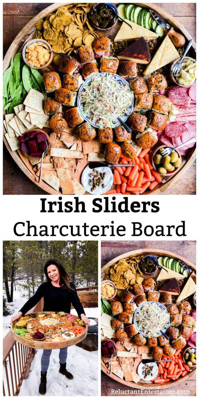 Cheesy Irish Sliders Charcuterie Board Recipe
