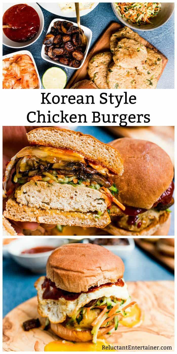 Korean Style Chicken Burgers Recipe