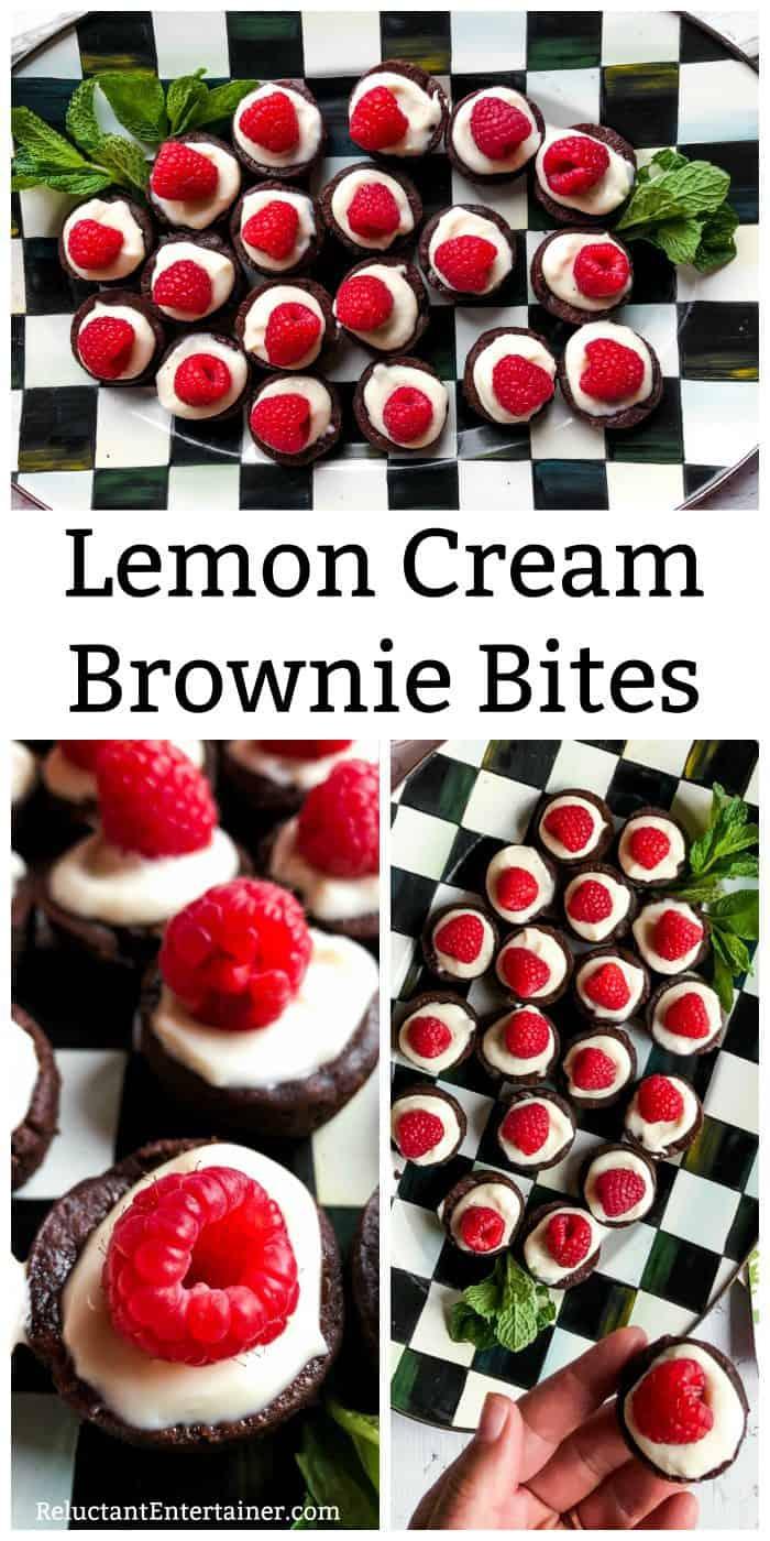 Lemon Cream Brownie Bites Recipe