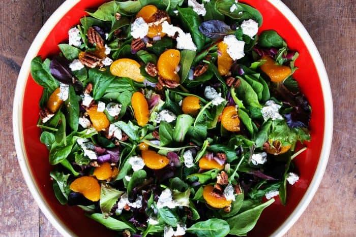 Mandarin Mixed Green Salad Recipe