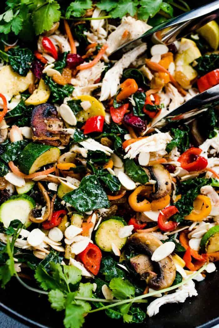 Tasty Sautéed Veggie Chicken Skillet Recipe
