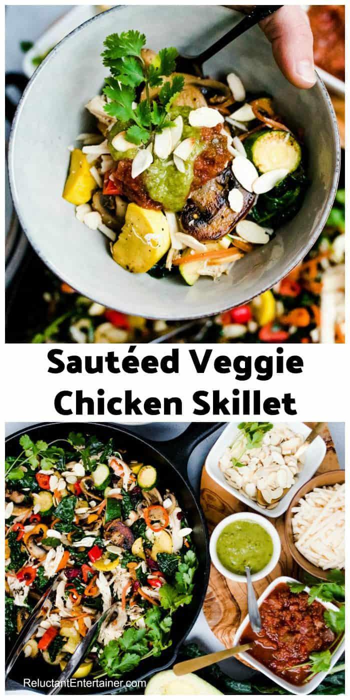 Healthy Sautéed Veggie Chicken Skillet Recipe