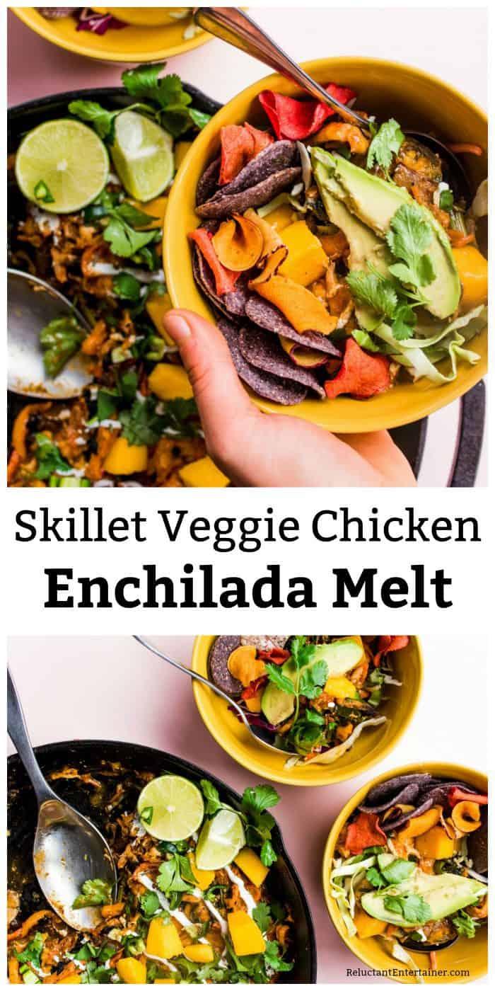 Skillet Veggie Chicken Enchilada Melt Recipe