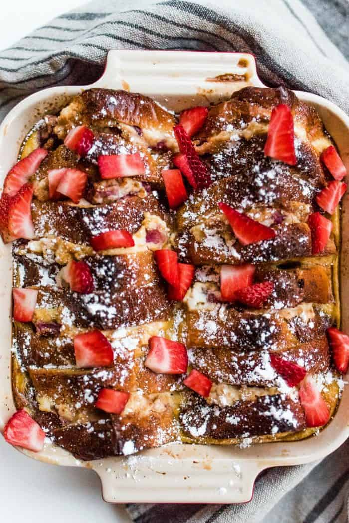 Easy Strawberry Lemon Ricotta French Toast