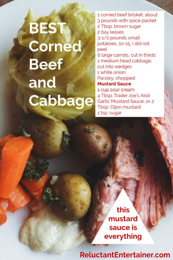 cooked corned beef and cabbage