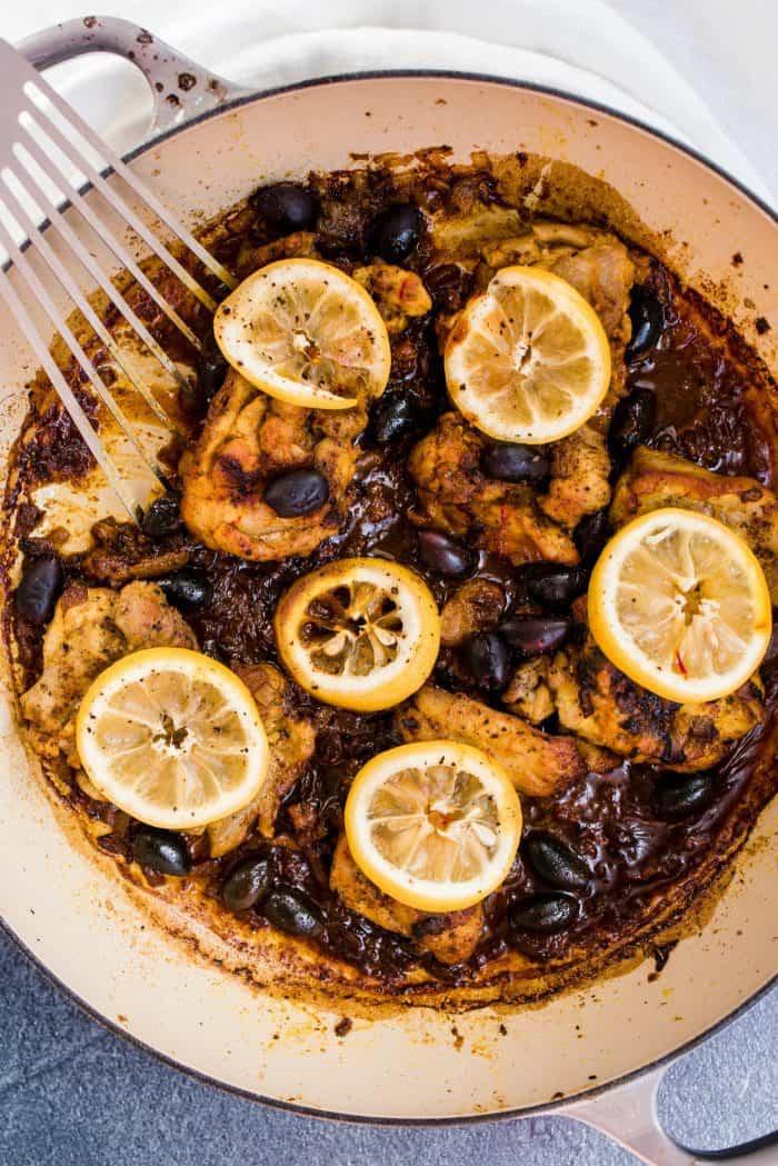 Baked Lemon Chicken and Olives