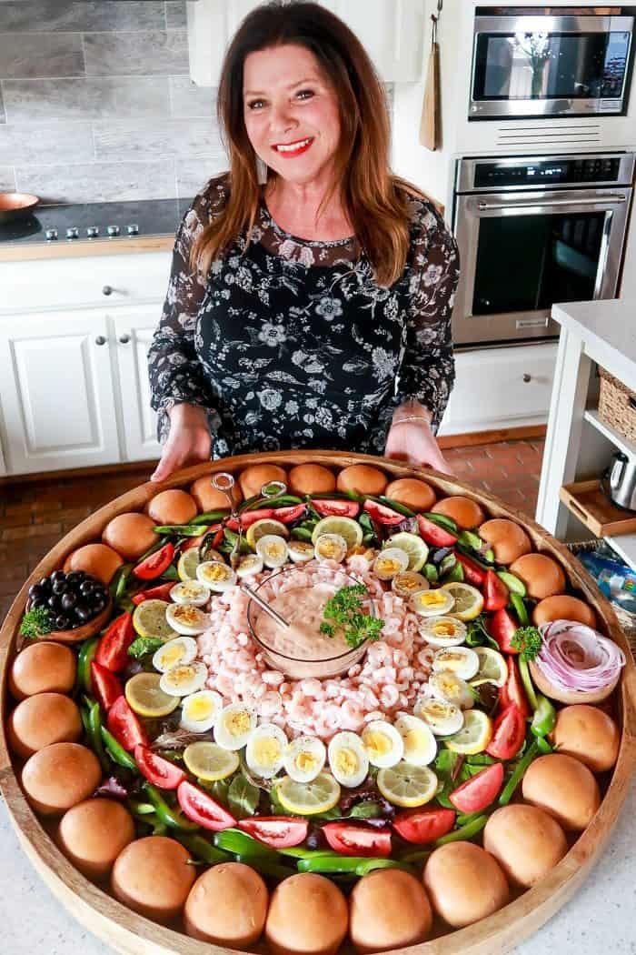 EPIC Shrimp Louis Salad Board - party