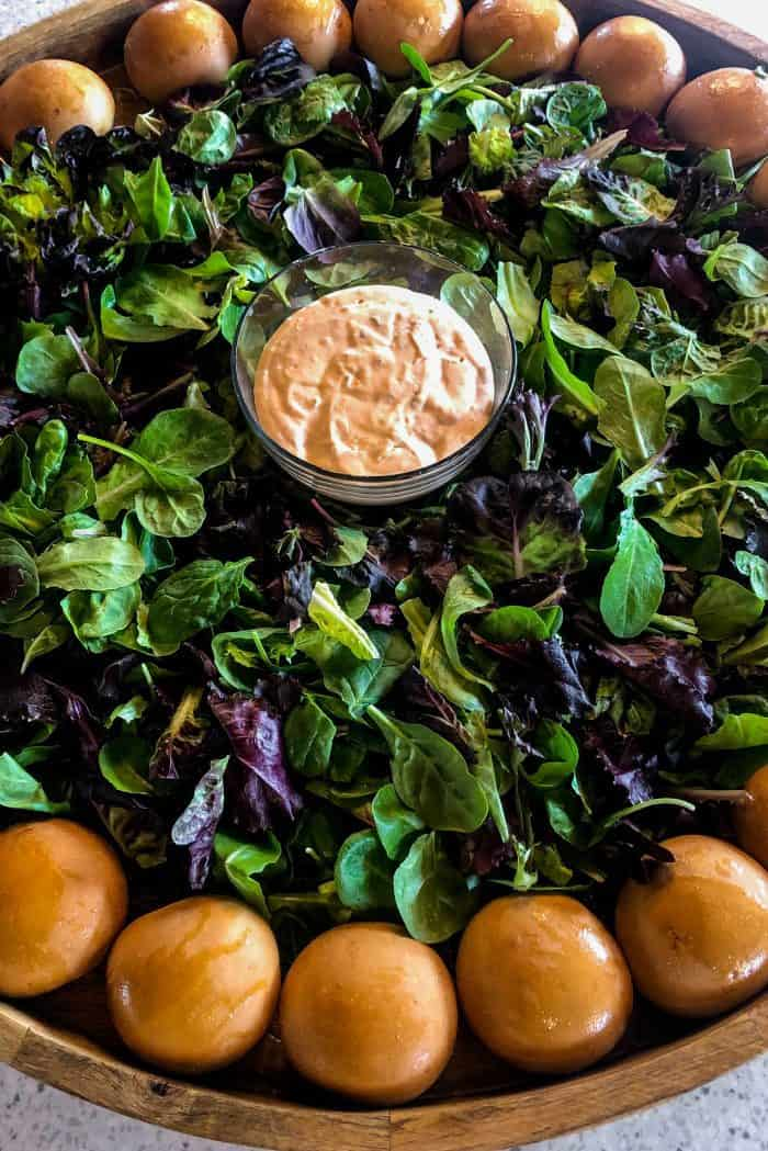 EPIC Shrimp Louis Salad Board - lettuce