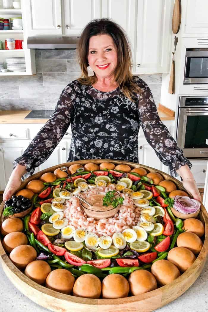 EPIC Shrimp Louis Salad Board - how to
