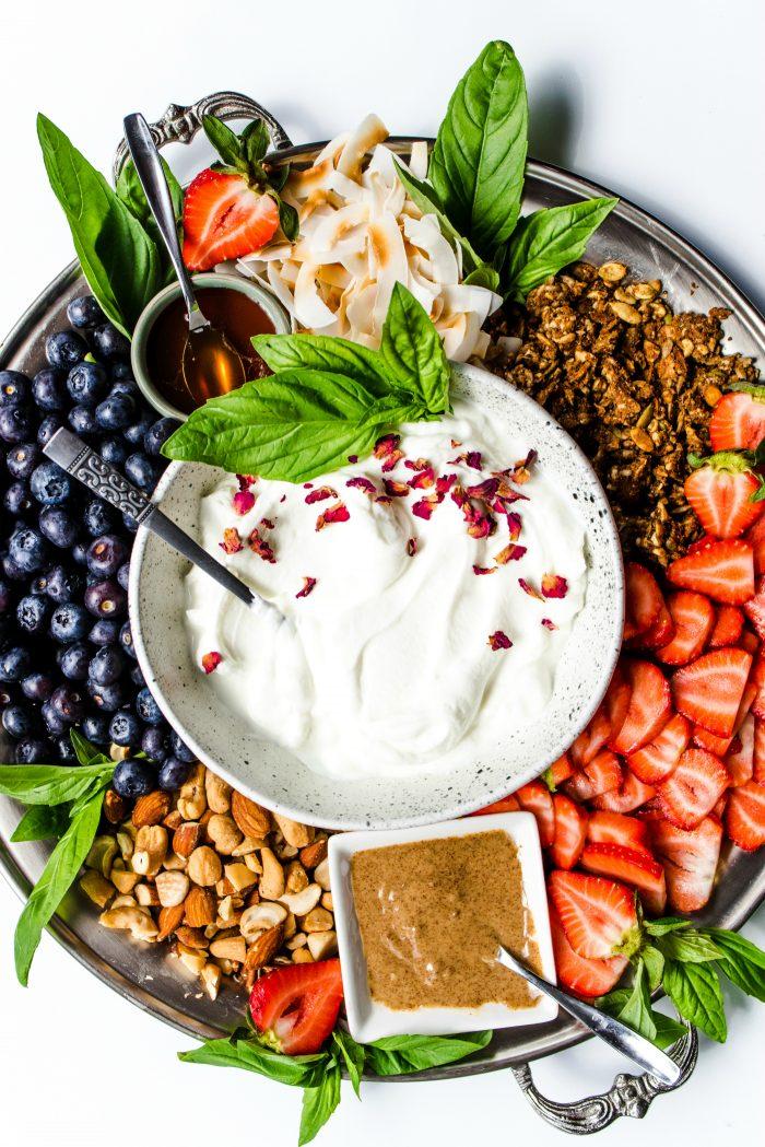 Breakfast Fresh Fruit Yogurt Platter