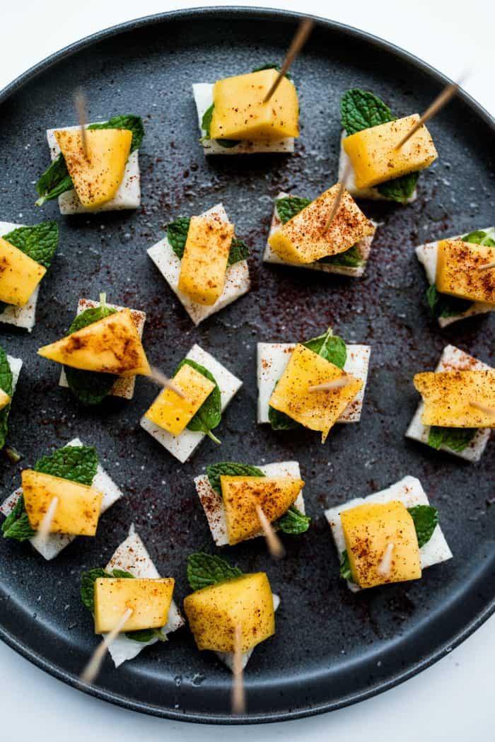 Jicama Mint Bites Appetizer