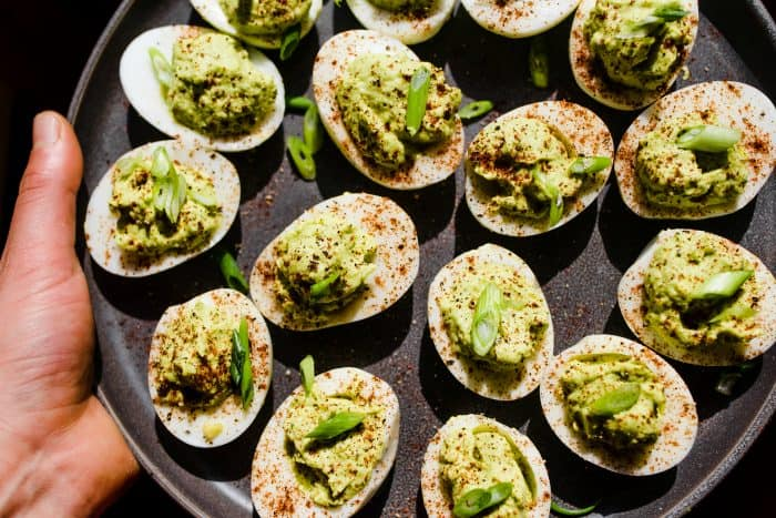 Easy Lime Guacamole Deviled Eggs