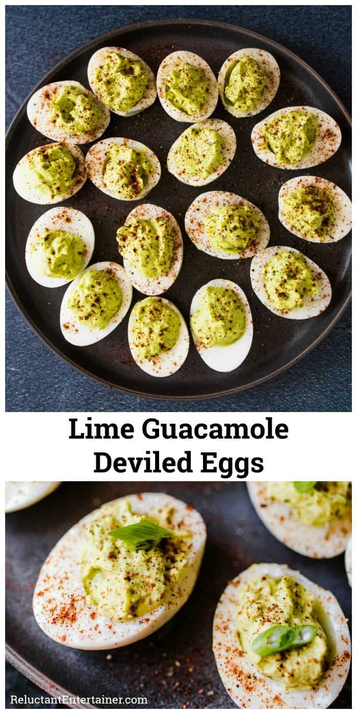 Lime Guacamole Deviled Eggs Recipe
