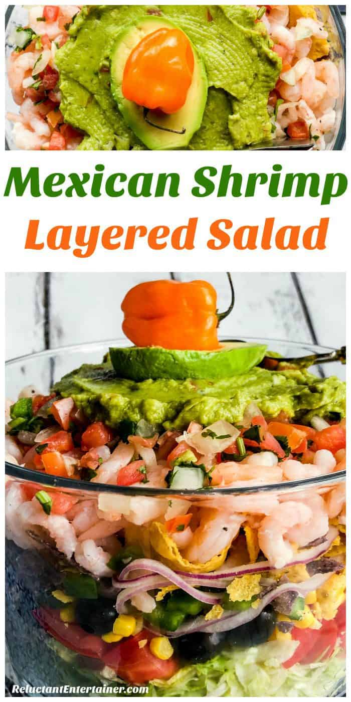 Mexican Shrimp Layered Salad