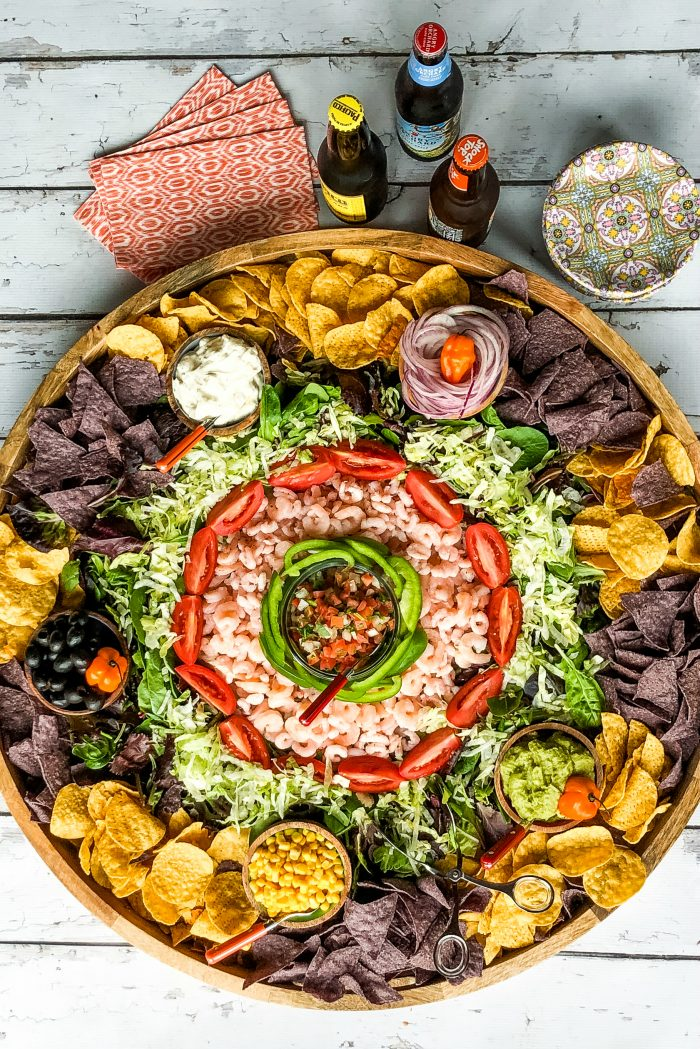 Very Best Mexican Shrimp Salad Board
