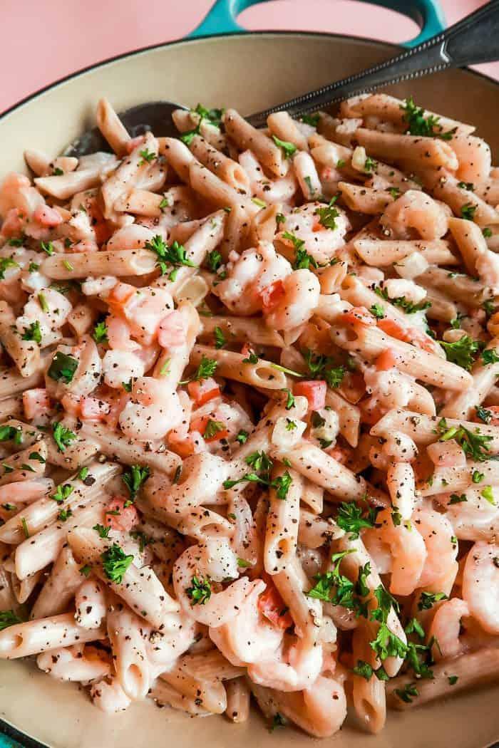 Alfredo Shrimp Penne