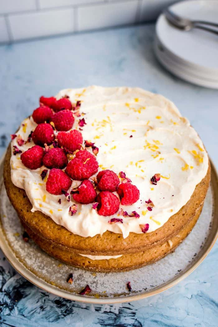 Tasty Cardamom Raspberry Cake