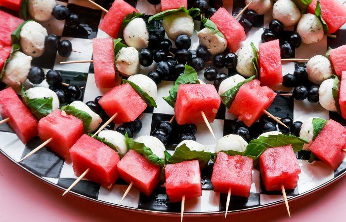 4th Juy Easy Watermelon Skewers Recipe