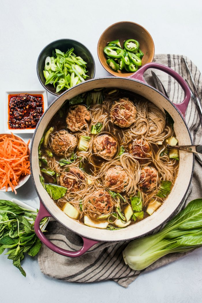 Pork Meatballs in Aromatic Broth - Reluctant Entertainer