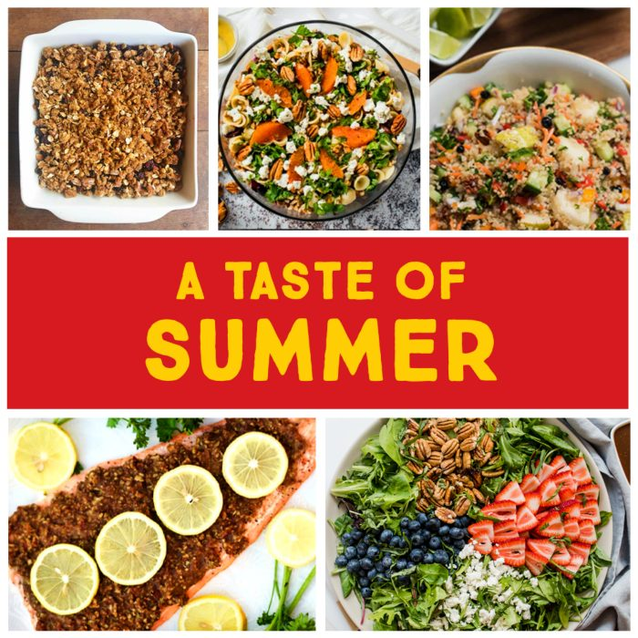 Summer Entertaining Meal Plan with Pecans #atasteofsummer