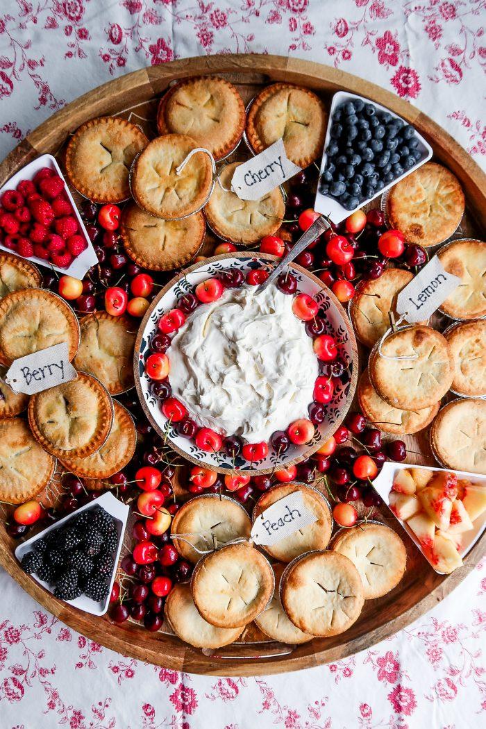 mini pie charcuterie board