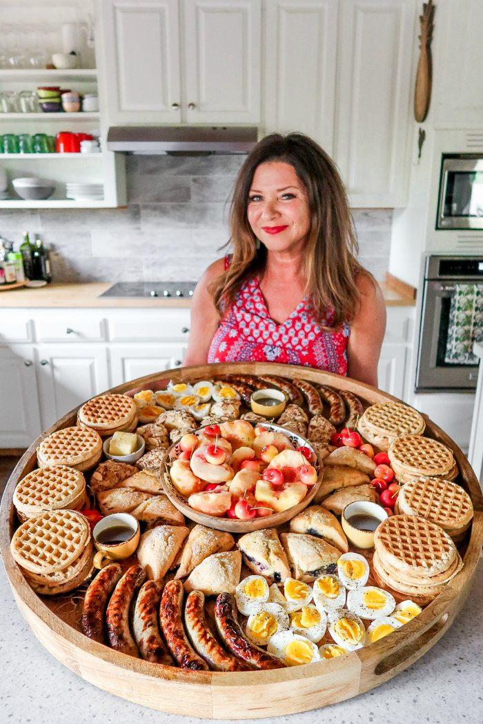 large wood breafast waffle board
