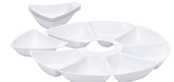 plastic pie shaped dish
