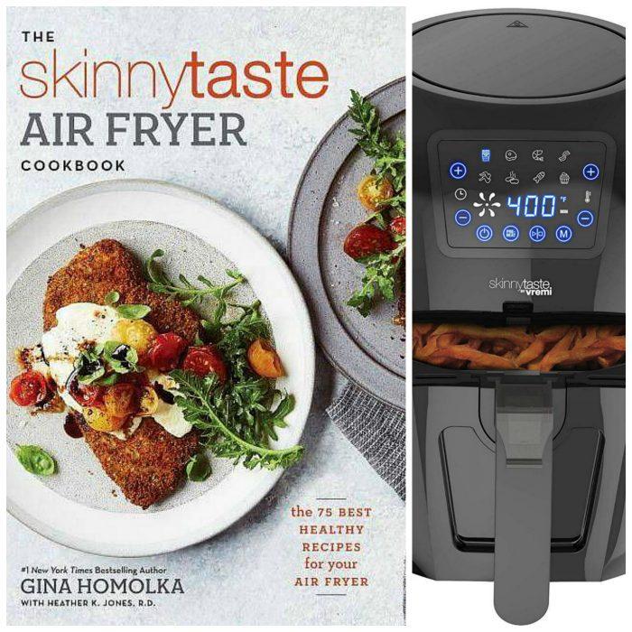 Skinnytaste Air Fryer Cookbook plus black air fryer