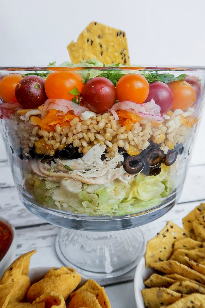 Best Chicken Rice Layered Salad