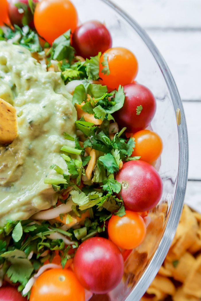 Tasty Easy Chicken Rice Layered Salad