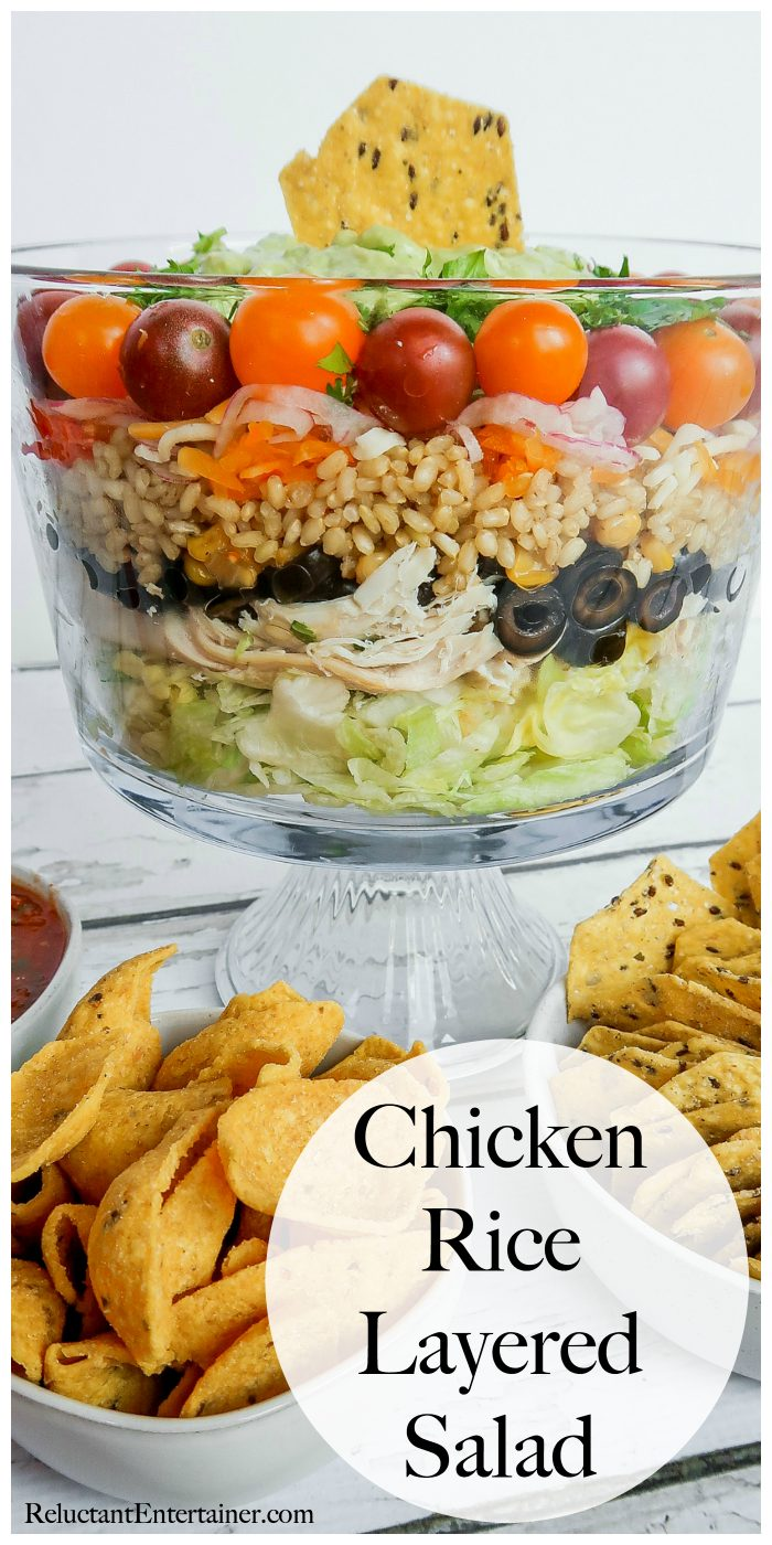 Easy Chicken Rice Layered Salad Recipe