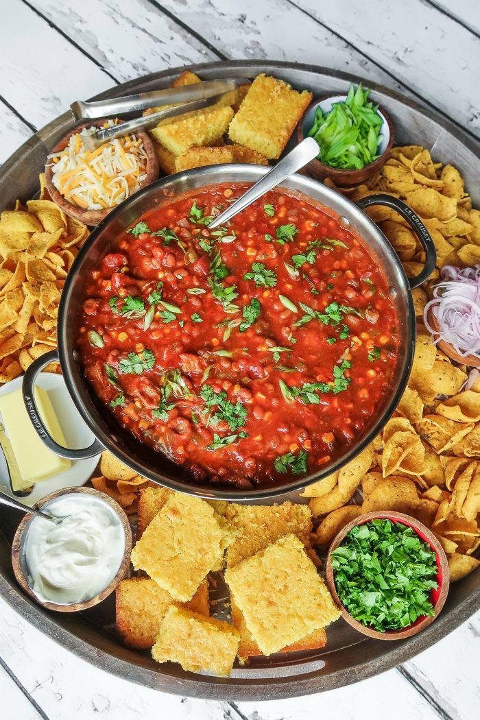 Easy Chili Dinner Board Recipe