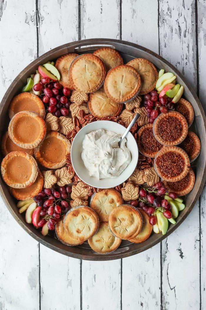 BEST Fall Mini Pie Dessert Board