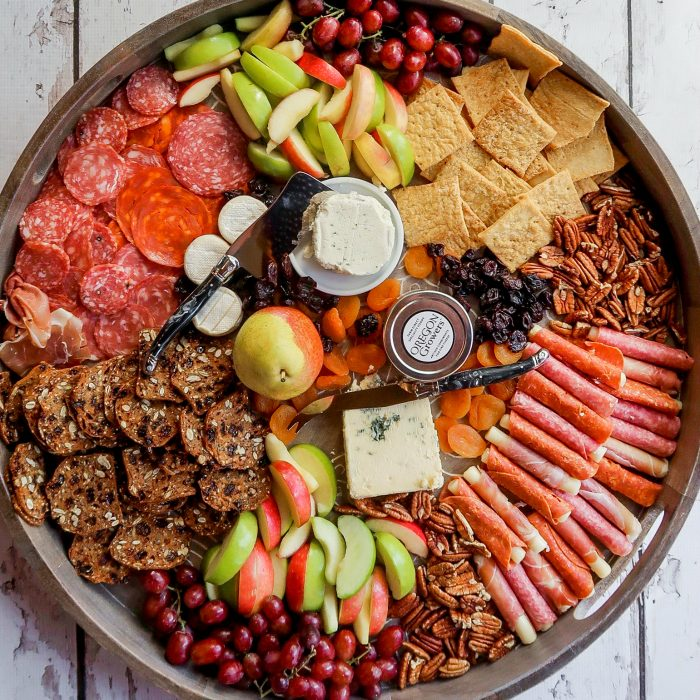 round fall cheese board