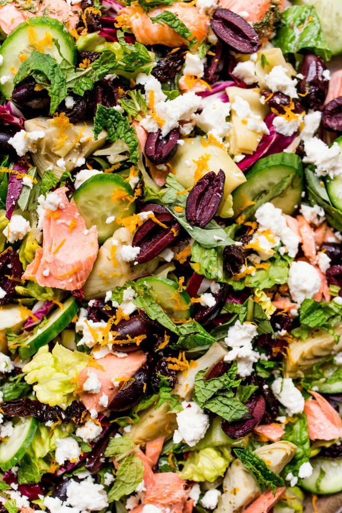 Best Mediterranean Salmon Salad