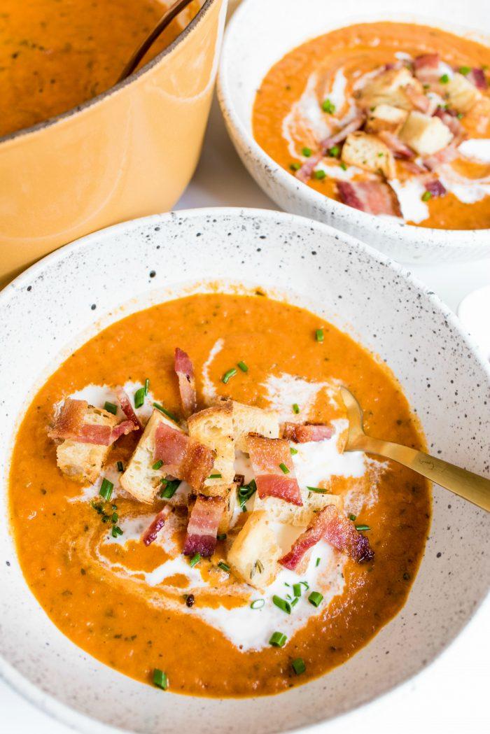 Orange Basil Tomato Soup