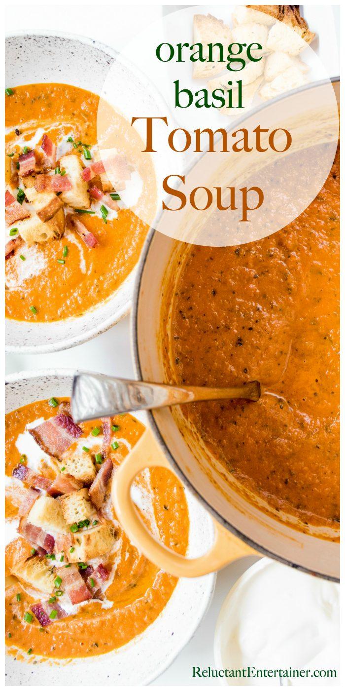BEST Orange Basil Tomato Soup Recipe