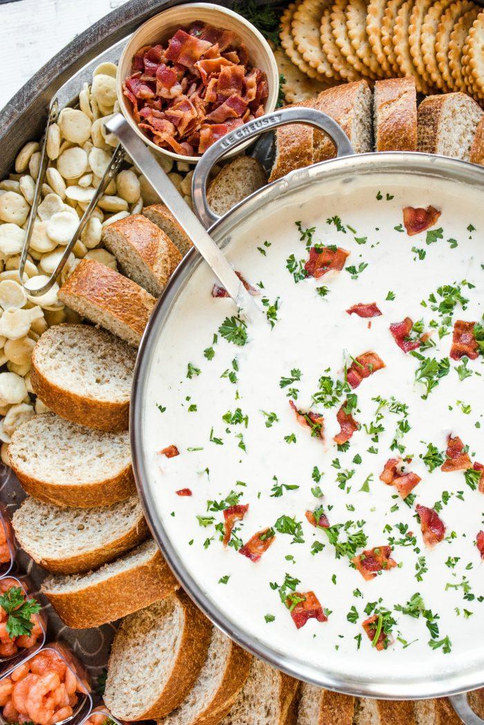 BEST Epic Clam Chowder Dinner Board Recipe