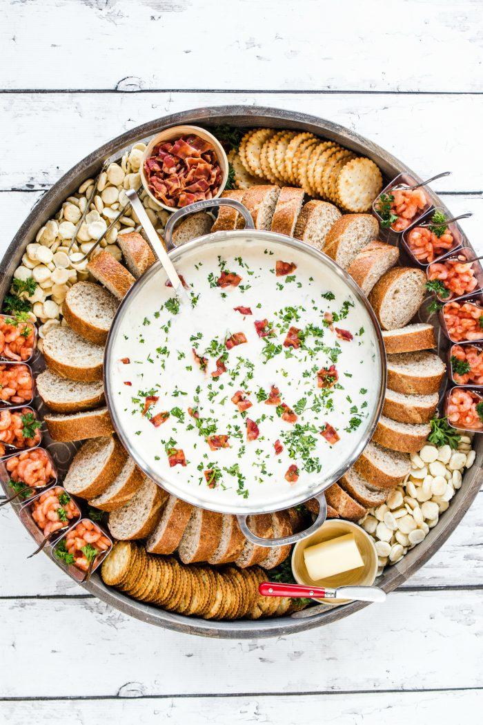 Easy Clam Chowder Dinner Board