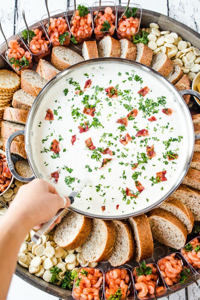 Easy Clam Chowder Dinner Board Recipe