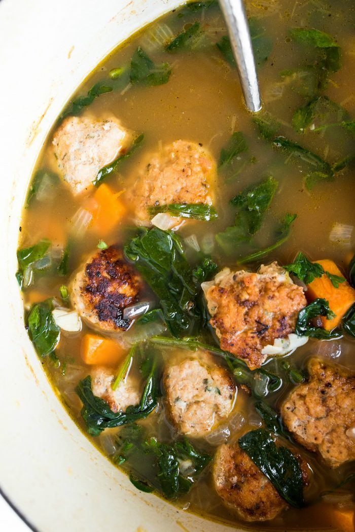 Easy Chicken Meatball Italian Wedding Soup recipe