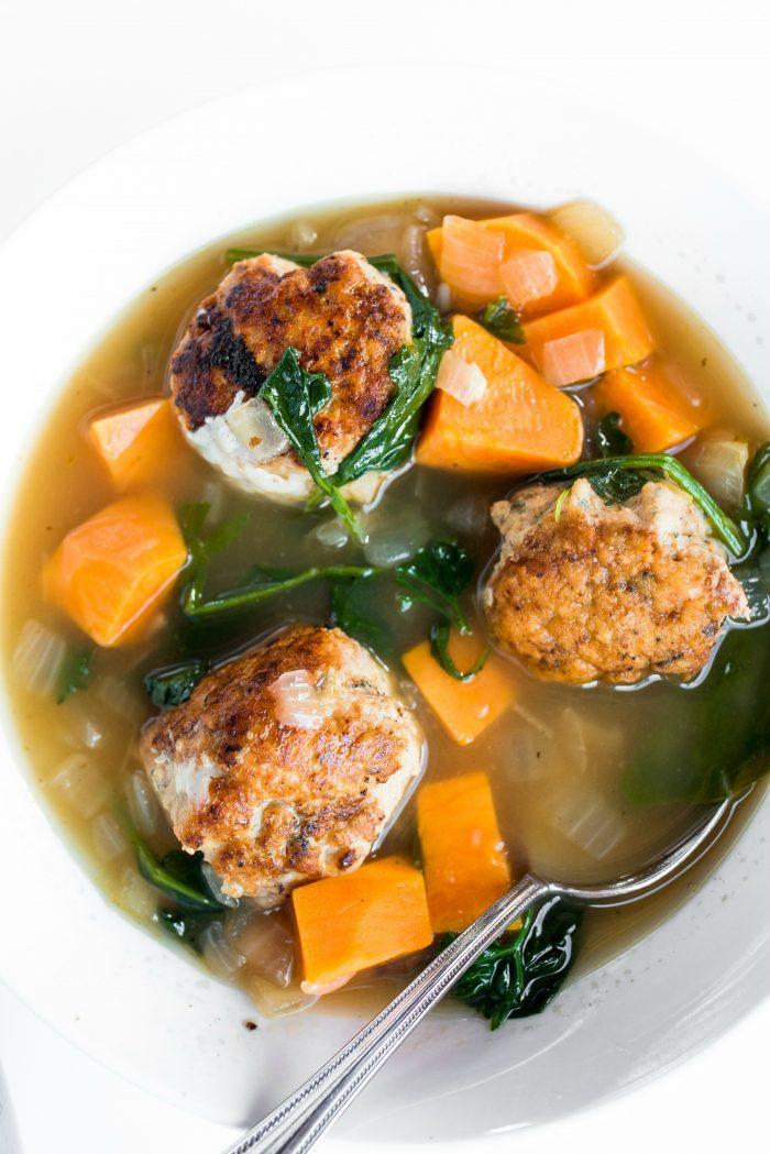 BEST Chicken Meatball Italian Wedding Soup recipe