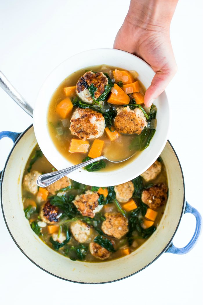 Chicken Meatball Italian Wedding Soup Recipe