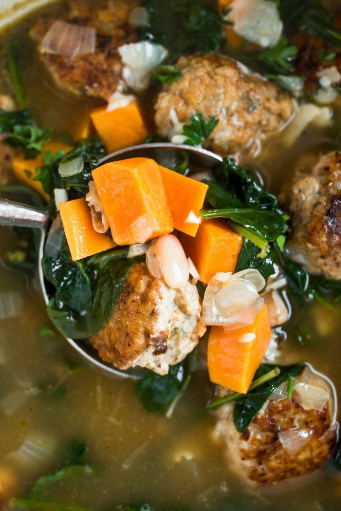 EASY Chicken Meatball Italian Wedding Soup
