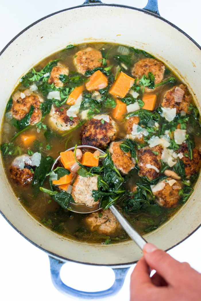 BEST Chicken Meatball Italian Wedding Soup