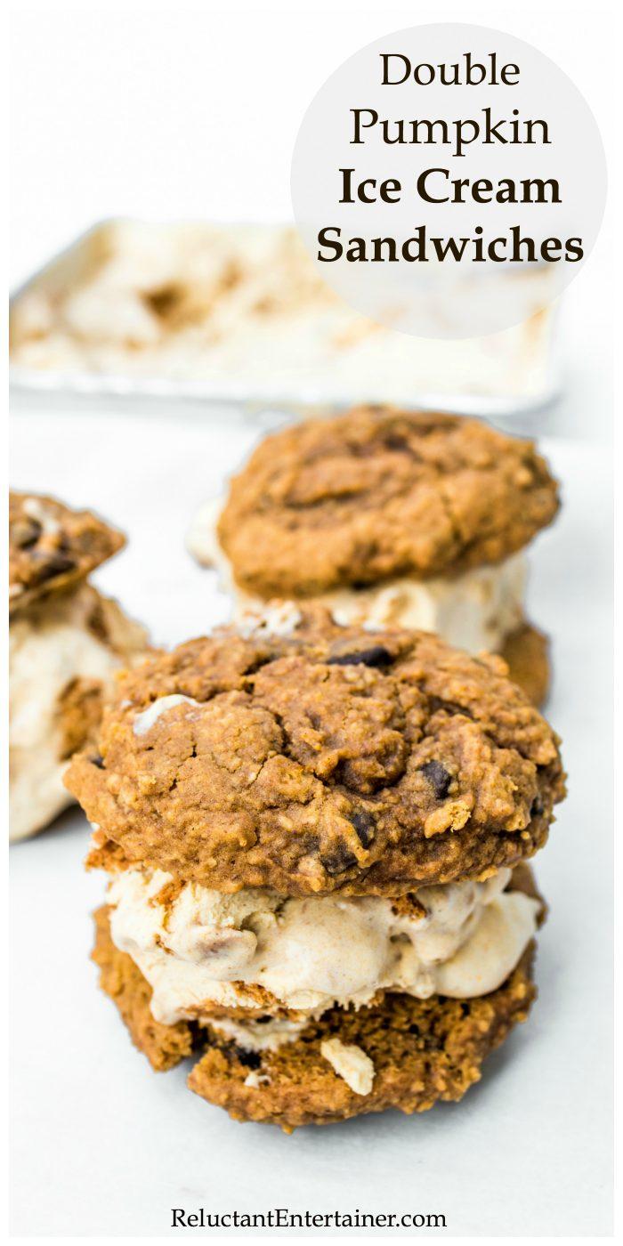 Double Pumpkin Ice Cream Sandwiches Recipe