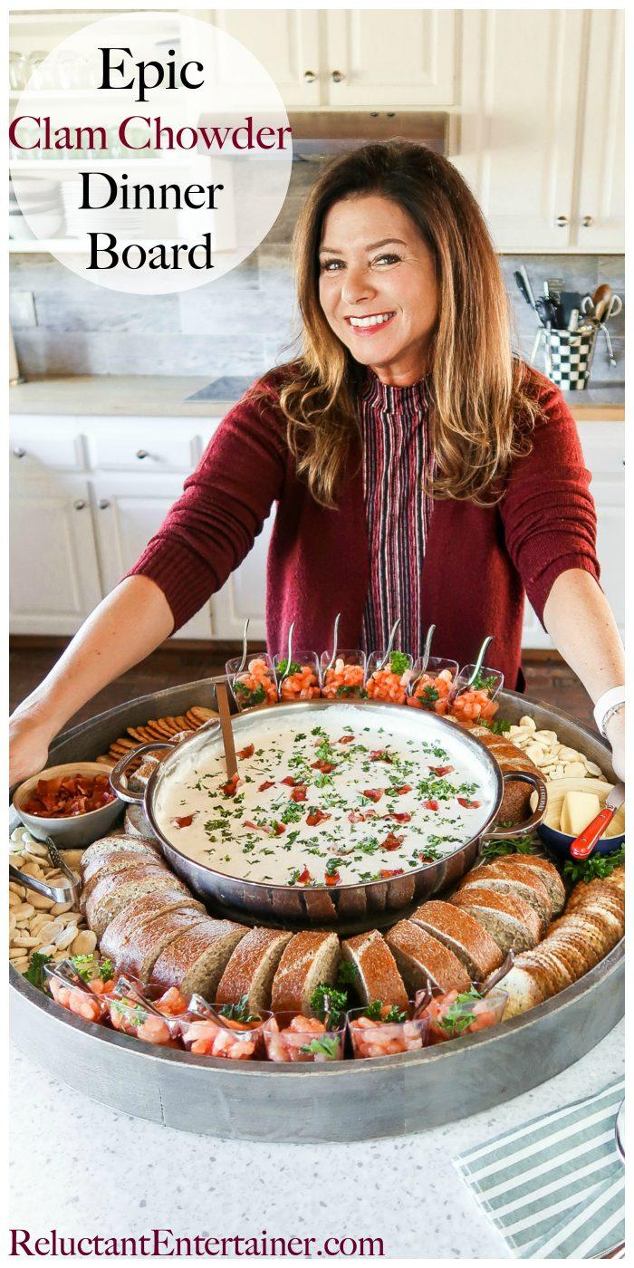 Epic Clam Chowder Dinner Board Recipe