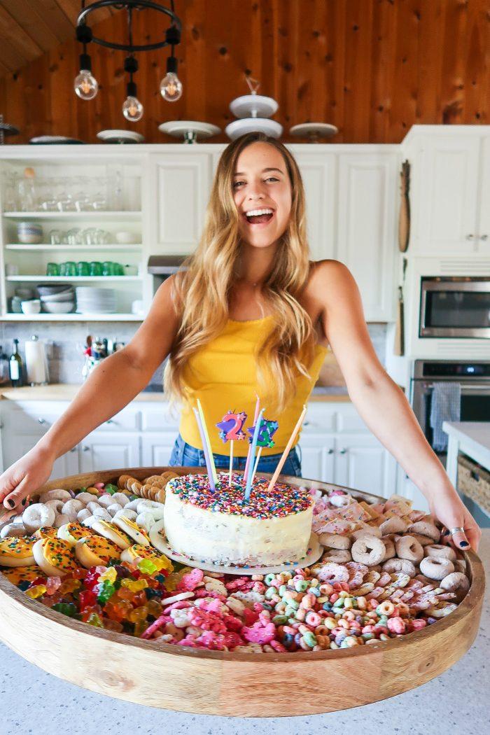 Easy FUNFETTI® Inspired Cake Board