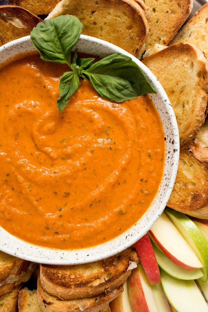 Tomato Orange Soup Board